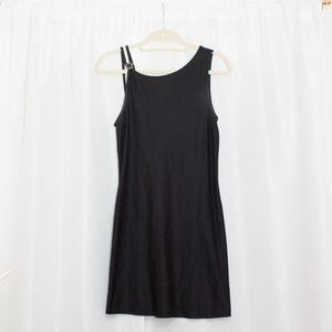 Versace Intensive Black Asymmetrical Mini Dress